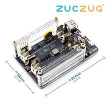 Nova placa de extensão de energia ups 18650 com rtc, medição, 5v saída porta serial para raspberry pi