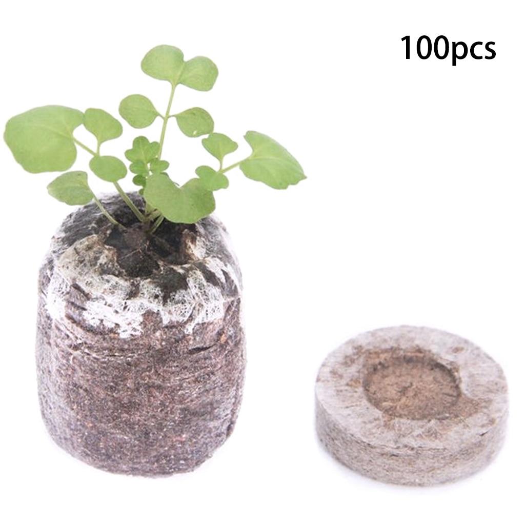 100PCS Nursery Nutrient Blocks Peat seedling Blocks Rich in Magic Soil Medium for Garden Pouring