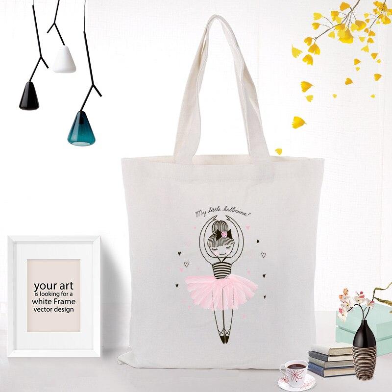 Canvas Tote Bag Handbag ILLUSTRATION Daily Use Custom Print Logo Text DIY Shopping Bag Print Eco Reusable Recycle
