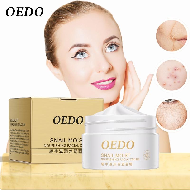 Купить с кэшбэком Snail Moist Nourishing Facial Cream Anti Wrinkle Cream Imported Raw Materials Skin Care Anti Aging Wrinkle Firming Snail Care