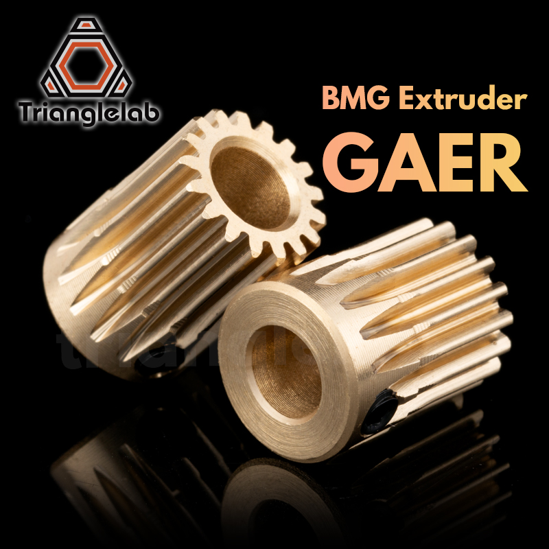 Trianglelab Brass BMG Extruder GAER Pinion Gear 5mm 0 5M 17T for Extruder motor Gaer for Extrusion wheel titan