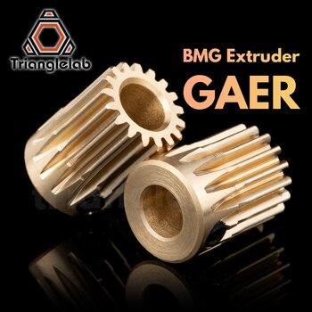 цена на Trianglelab Brass BMG Extruder GAER Pinion Gear 5mm/0.5M 17T for Extruder motor Gaer for Extrusion wheel titan