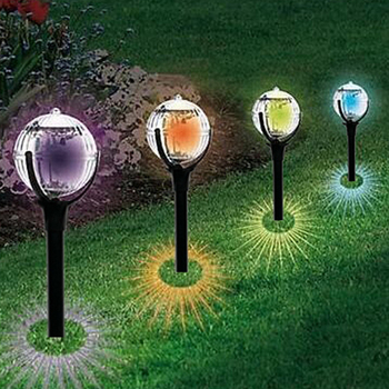 LED Solar Garden Lights Outdoor Colorful Landscape Pathway LED Lawn Lights Waterproof Solar Power Lamp For Yard Garden Path new solar lights butterfly lawn lights colorful color lawn lights led outdoor garden placement decorative lights