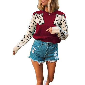 red knitted tiger sweater