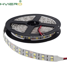 цена на 5050 SMD 120 led/m 5m 600led 12v Dc Double row led strip light Non-Waterproof double density white warm-white Free Shipping