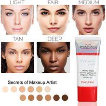 PHOERA New Foundation Cream Women Makeup Soft Matte Long Wear Oil Control Concealer Liquid Cover Freckles Acne Marks