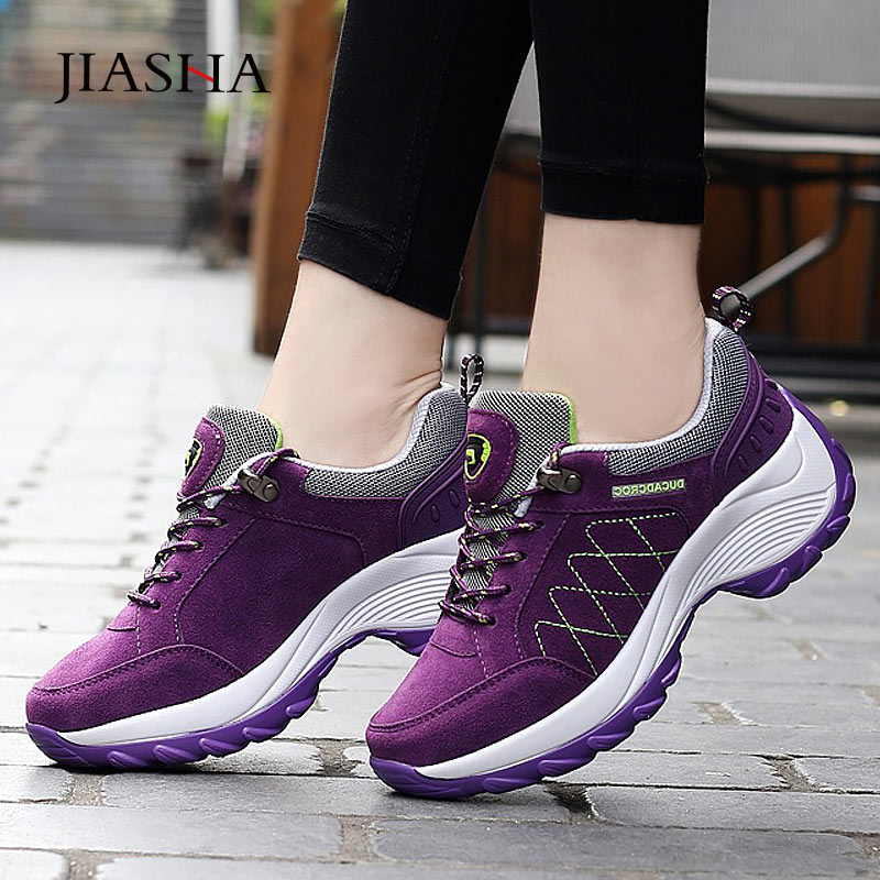 Women Sneakers 2019 Fashion Shock-absorbing Non-slip Mountain Hiking Shoes Woman Comfortable Sneakers Shoes Lady Sport Shoes