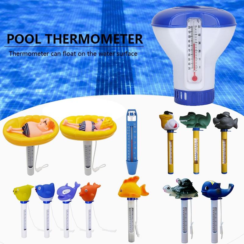 Плавающий Термометр для бассейна Портретные Мультяшные Термометры для воды со шнурком для спа горячие ванны