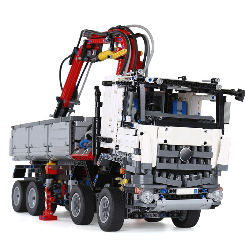 20005 Technic series Arocs truck Model Building blocks Bricks Classic compatible with <font><b>legoing</b></font> <font><b>42043</b></font> toys for Boys Christmas Gift image