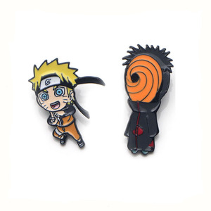 Naruto ninjia панк мультфильм цинковый сплав галстук значки para рубашка сумка Одежда Кепка рюкзак броши для обуви украшение медали E0322