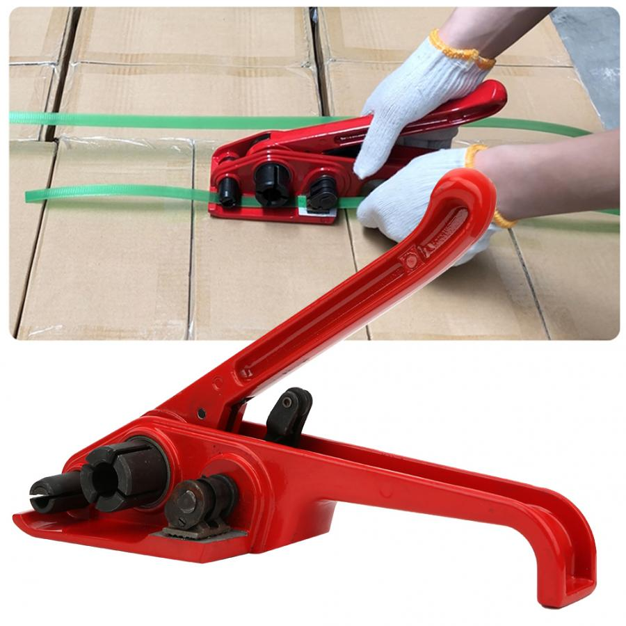 Wrapping Machines Manual Tape Strapping Tensioner Red Sealless Combination Tool Binding Tool for 16~19mm PET/PP Tape strapping