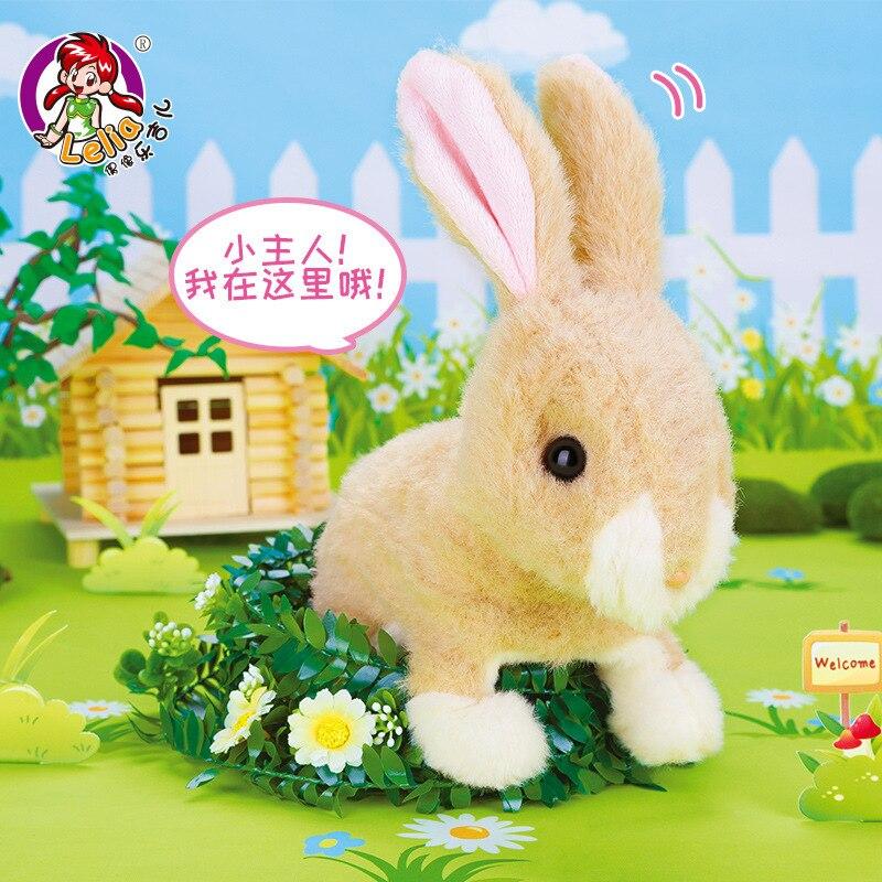 Q03031 Children Electric Tiao Tu Plush Gong Zhu Tu Will Jump Barking Loving Pet Meng Tu Wan Ju