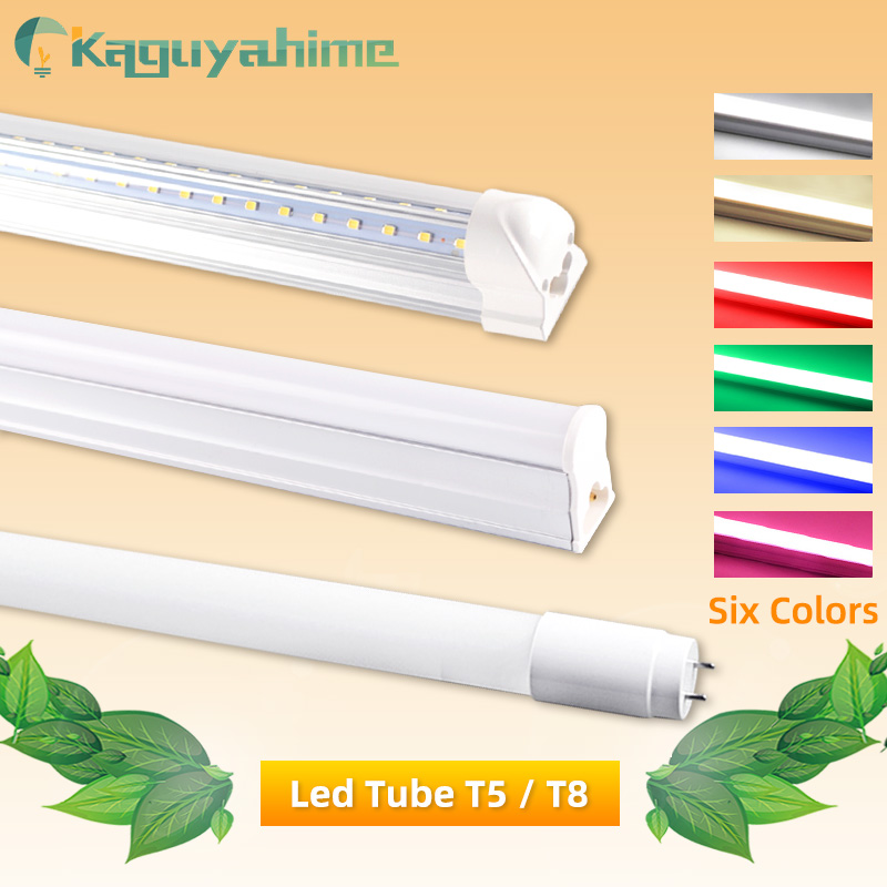 Led Tube T5 T8 AC 110V 220V LED Integrated Tube LED Light 2835 SMD 6W 10W 20W 300mm 600mm 1FT 2FT LED Fluorescent Lamp Ampoule