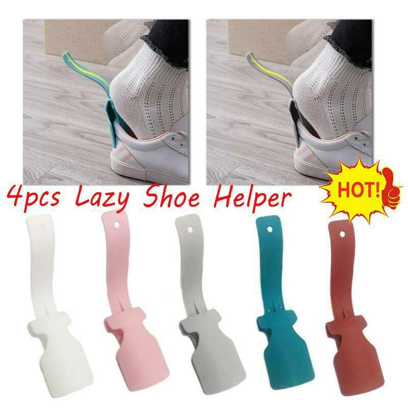 Lazy Shoe Helper Unisex Handled Shoe Horn Easy On & Off Shoe Lifting Helper Flexible Sturdy Slip