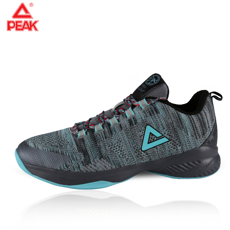 PEAK Basketball Shoes Ultra Light Breathable Mesh Shock Cushion Sneaker Low-top Fashion Sport Shoes Unisex Basketball Sneaker