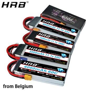 Europe Warehouse HRB Lipo Battery 2S 3S 4S 5S 6S 2200mah 5000mah 3300mah 1500mah 7.4V 11.1V 14.8V 22.2V T Deans XT60 XT90 EC5