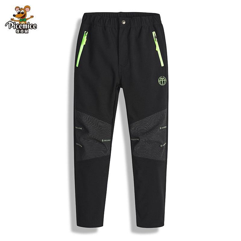 Детские уличные штаны, флисовые брюки, Осень-зима 2020, теплые зимние водонепроницаемые ветрозащитные лыжные брюки для девочек и мальчиков
