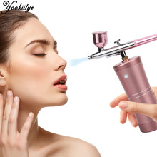 Face Sprayer Water Oxygen Injector Portable Airbrush Compressor Foundation Makeup Mini Spray Wireless Oxygen Infusion Apparatus