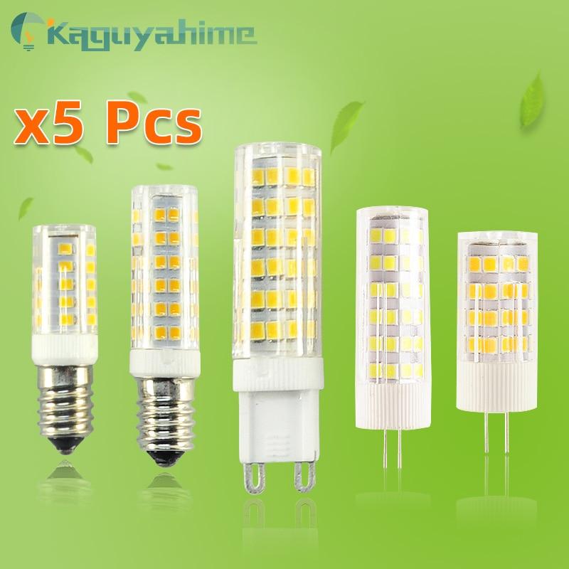 =(K)= 5 шт./лот светодиодная лампочка G9 G4 E14, лампочка с регулируемой яркостью, 3 Вт, 5 Вт, 9 Вт, 220 В переменного тока, 12 В постоянного тока, SMD2835 COB G4, ...