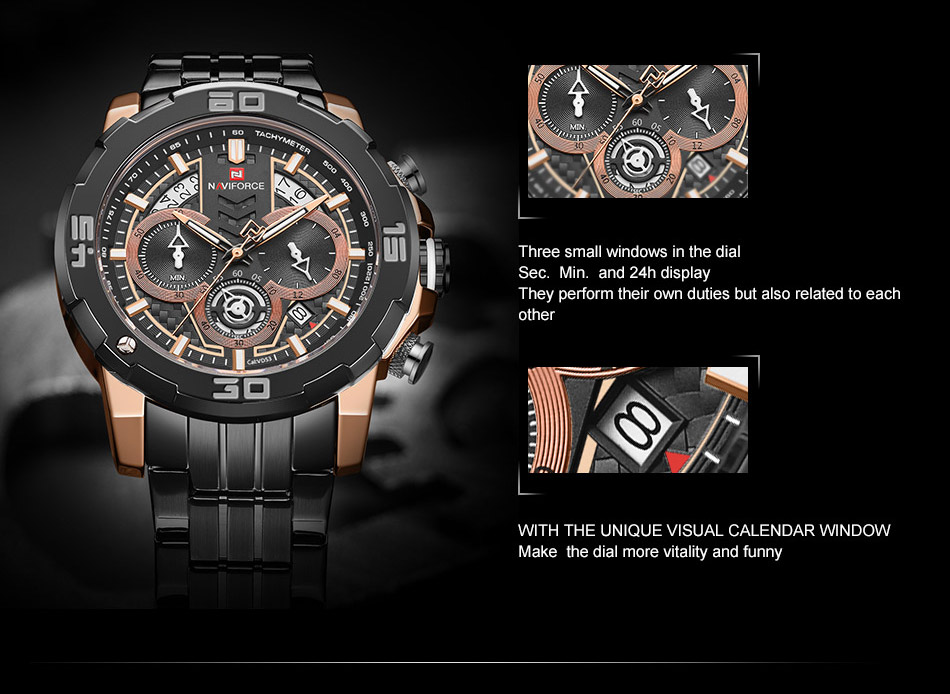NAVIFORCE NF9175 Stainless Steel Watch 8