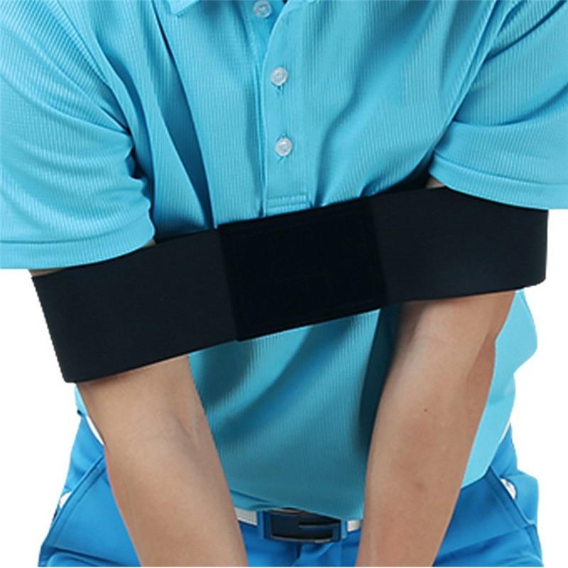 Golf Swing Trainer Eginner Practicing Guide Gesture Alignment Training Aid Aids Correct Swing Trainer Elastic Arm Band Belt