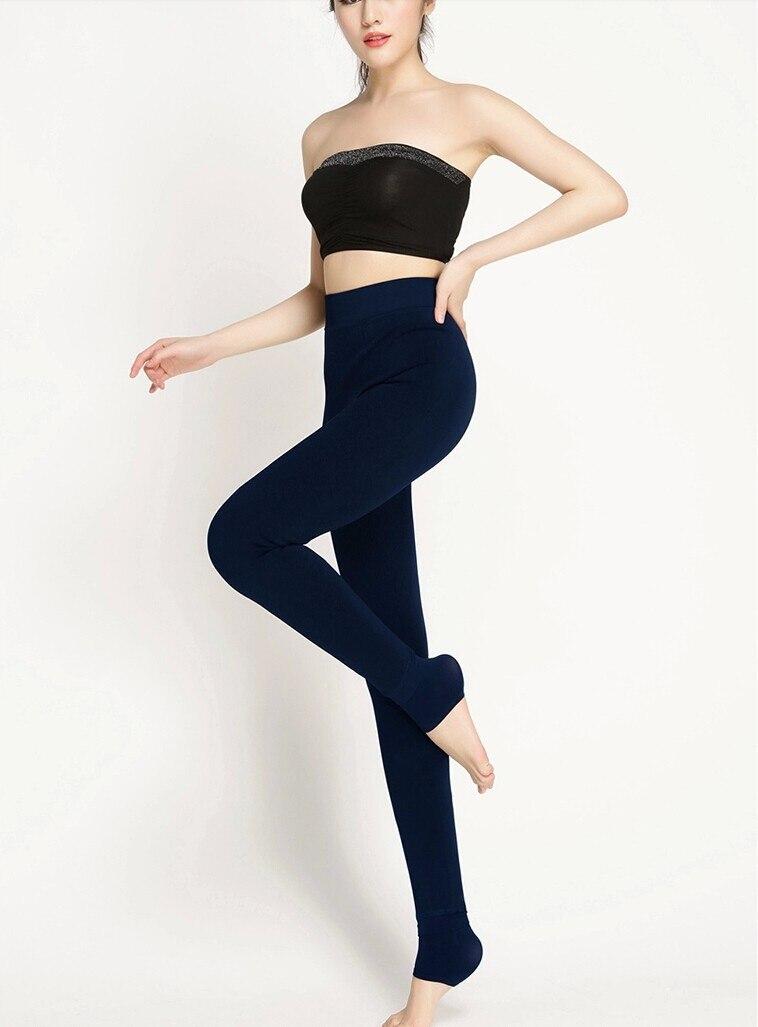 Hd49fbaa0b4234090a8a6f236a03b5cafd CHRLEISURE Warm Women's Plus Velvet Winter Leggings Ankle-Length Keep Warm Solid Pants High Waist Large Size Women Leggings