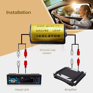 Аудио анти-шумоизолятор с заземляющей петлей RCA шумоизолятор с разъемом «Мама-папа» Высокое качество для автомобильных аудиосистем анти-шу...