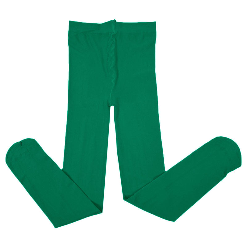 Hot-Baby Kids Girls Velvet Tights Leggings Pantyhose Underpants Trousers Dark Green
