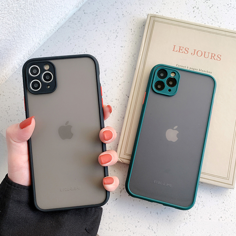 Matte Translucent Camera Protection Bumper Phone Cases For iPhone 11 11 Pro Max XR XS 10