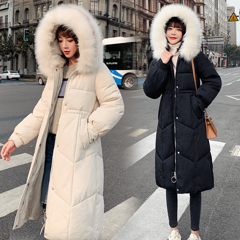 Winter Jacket Women New Coats Female Parka black Thick Cotton Padded Ladies outerwear 2019 long outwear