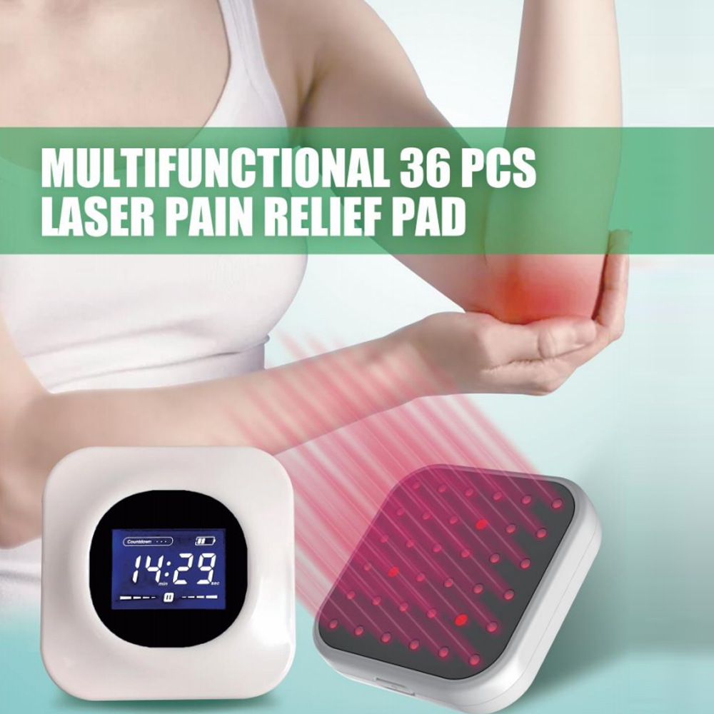 LASTEK Pain Relief Treatment Pad Multi-Use Prostatitis Lower/Upper Back Neck Pain Sprains 36 Diodes 3R LLLT Laser Therapy Device