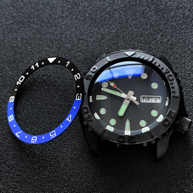 Flat Ceramic Bezel Insert 38*31.5mm MOD For Seiko brand SKX007 SKX011 Divers SUB Replacement of watch parts