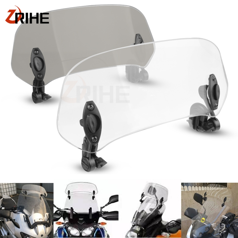 Déflecteur dair réglable pour moto | Pince ajustable sur le pare-brise, Extension du Spoiler du pare-brise pour HONDA Integra 700 Integra700