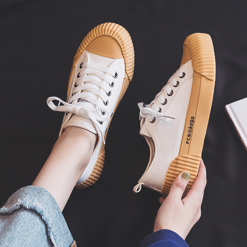 Fashion Shoes Women Canvas Women's Vulcanize Shoes New Flat Trend Fashion Comfortable Deodorant Sneakers Shoes Women Sneakers