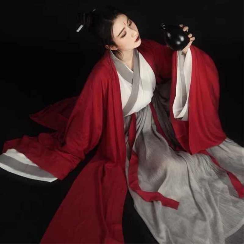 Phụ Nữ Hanfu Múa Dân Gian Trung Quốc Vintage Trang Phục Thanh Lịch Cải Tiến Hanfu Phù Hợp Với Nhà Hán Kiếm Sĩ Trang Phục Hóa Trang Bộ Trang Phục