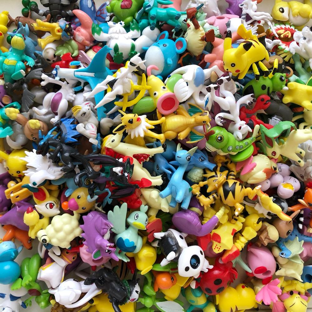 250 Pieces 4cm Middle Size Different Kinds Action Toy Figures Model Toys Collection For Kids Chirldren