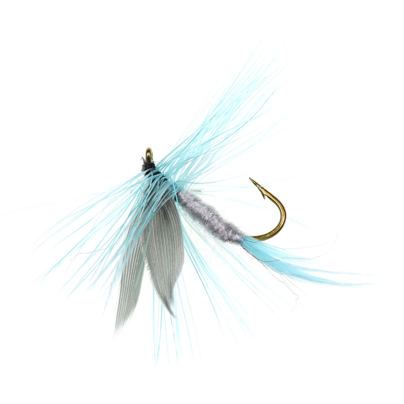 6PCS fishing lure Black hooks Peacock Feather Material Nymph Spinner Baetis Fly Bait Trout Fly Fishing With Barbed Fishhook