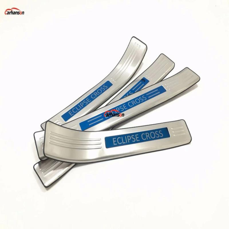 For Mitsubishi Eclipse Cross Accessories 2017-2019 Steel Door Sill Protector Door Sill Guard Scuff Plate Trim 4pcs