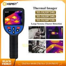 재고 있음 XEAST 빠른 배송 핸드 헬드 열 화상 카메라 60x60 해상도 3600 픽셀 디지털 디스플레이 열 화상 카메라