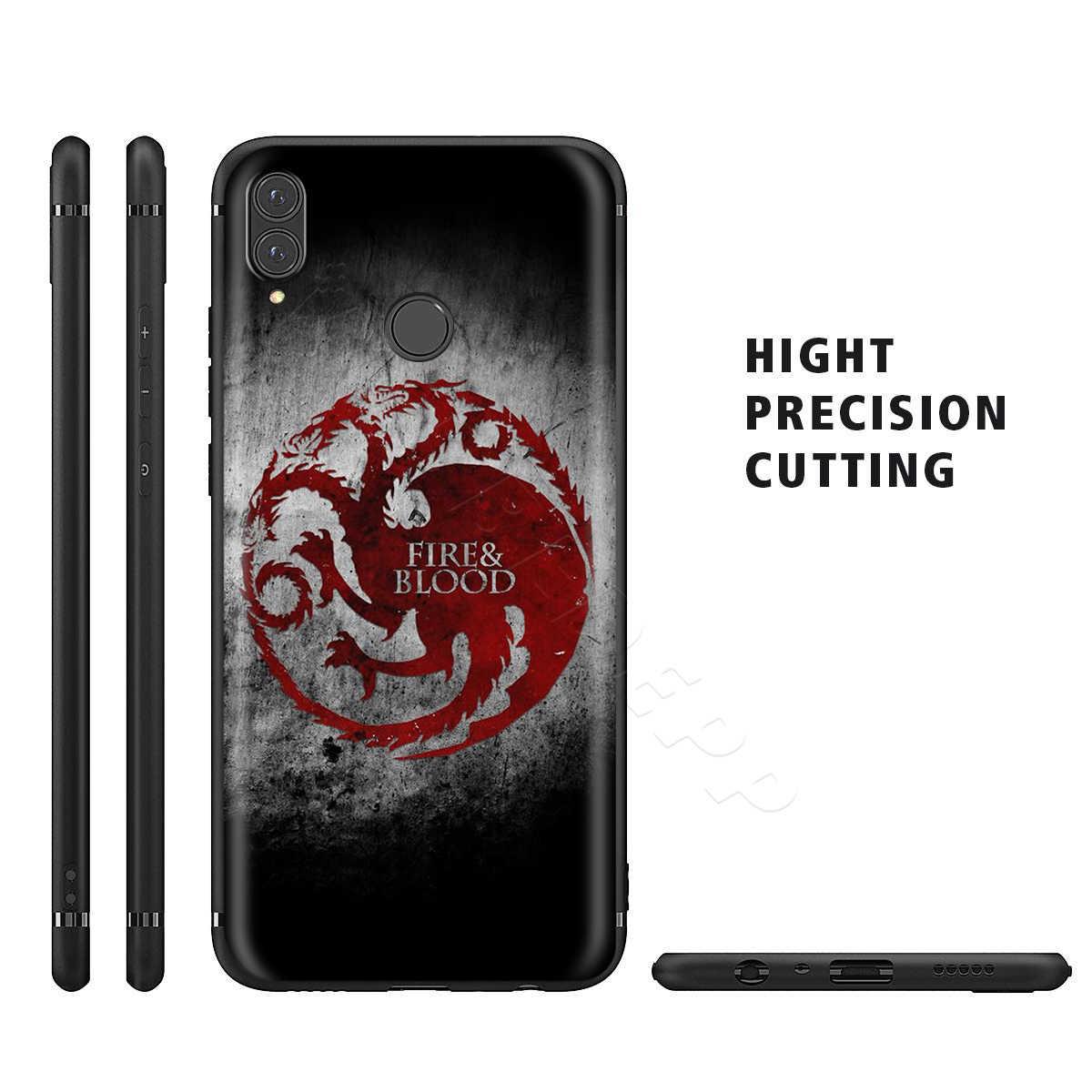 Webbedepp Game of Thrones étui pour huawei P8 P9 P10 P20 P30 Lite Pro P Smart Z 2019 2019 Mini