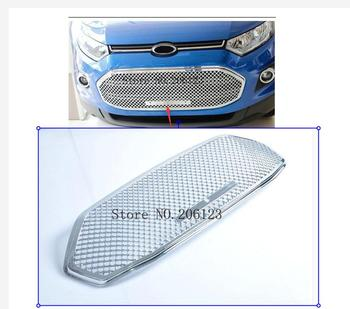 High quality Stainless steel modification car front grille racing grills grill cover trim for Ecosport 2013 2014 2015 2016