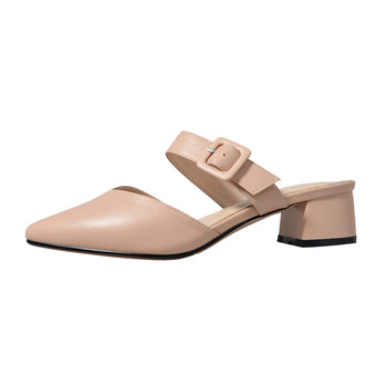 Damen Mule Shoes Spring 2020 Fashion Ladies Shoes Woman Pointed Toe Shoes Calzadode Mujer Korean Shoes