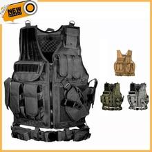 2020 戦術的な機器軍事molle vest狩猟鎧陸軍ギアエアガンペイントボール戦闘保護ベストcsウォーゲーム