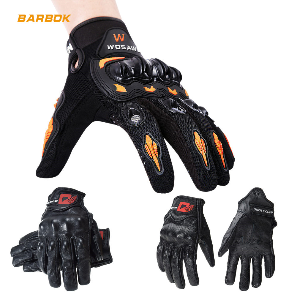 WOSAWE Hard Shell Men's Motorcycle Gloves PVC Palm Pad Guantes Moto Cycling Outdoor Sports No Fleece Motocross Off Road Gloves