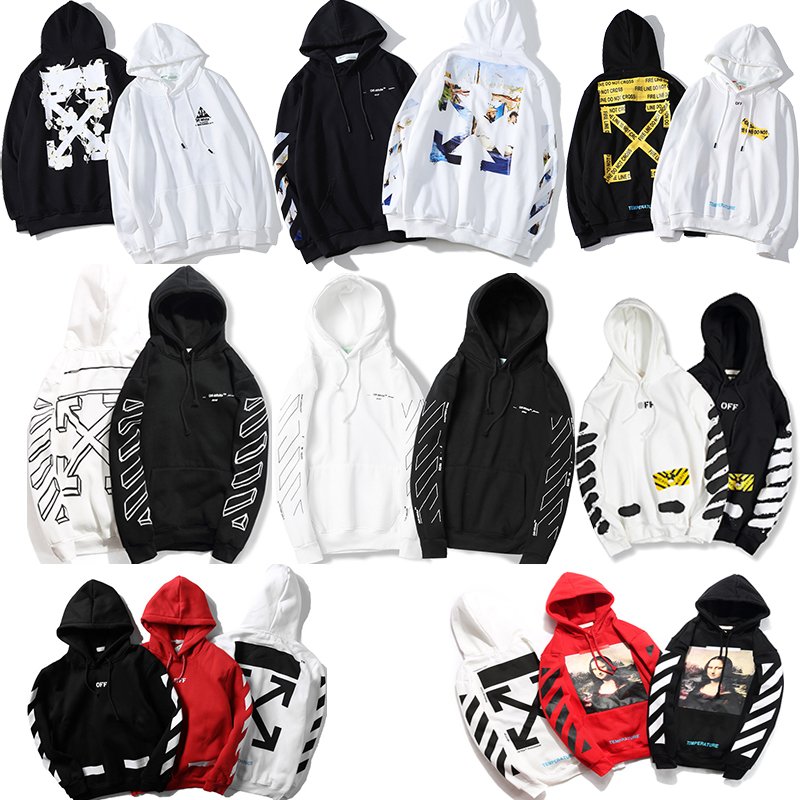 2020 Autumn Winter Ink Paint Speed Bump Cool Hooded Plus Velvet Hoodie Men And Women Couples Hoodies & Sweatshirts Coat