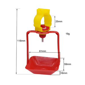Image 4 - 40 Sets Of 25mm Chicken Nipple Drinker Hanging Cups Chicken House Drinking Water Cups Poultry Bird Cage Waterline