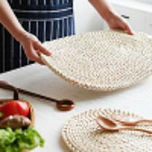 Corn Fur Woven Dining Table Mat Heat Insulation Pot Holder Coasters Coffee Drink Tea Cup Pad Table Round Placemats Mug Coaster 6pcs lot round cork coaster heat resistant cup table placemats mug mat coffee tea hot drink posavasos placemat kitchen decor