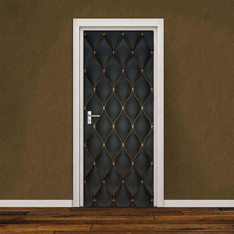 Door Stickers DIY 3D Mural For Living Room Bedroom Home Decor Poster PVC Self Adhesive Waterproof 3D Door Sticker Creative Decal