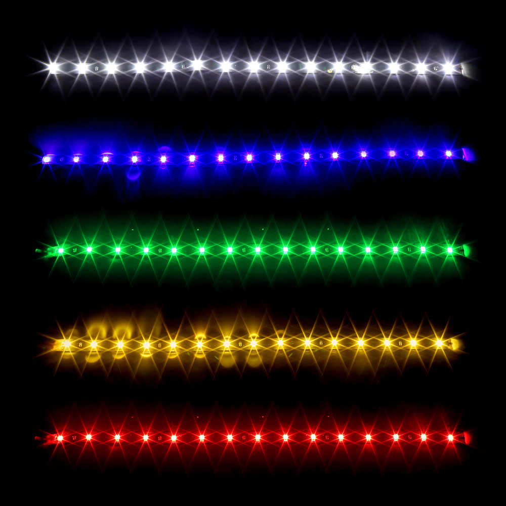 12V 15SMD สูง LED Strip Light DRL โคมไฟกันน้ำ LED ไฟวิ่งกลางวันรถตกแต่ง -จัดแต่งทรงผม