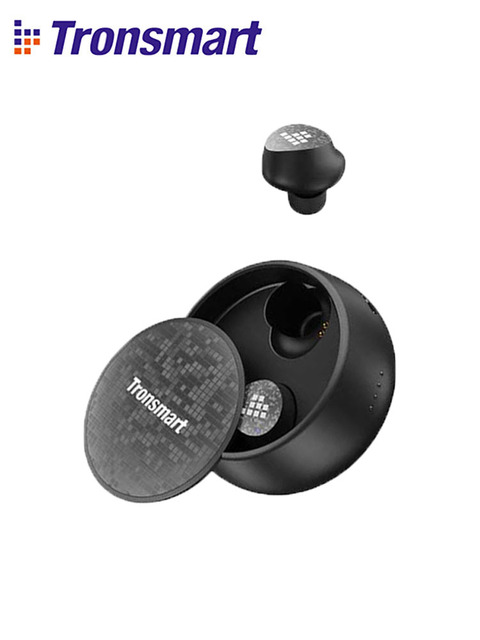 Tronsmart Spunky Pro Earphones True Wireless Bluetooth 5.0 Earbuds with Voice Assistant, Deep Bass, Wireless Charging